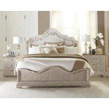 Elizabeth - California King Bed Rails - Smokey White Finish