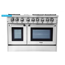 48 Inch Professional Gas Range In Stainless Steel