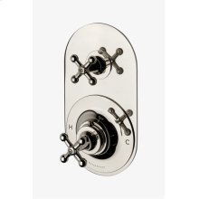 Dash Metal Cross Handle Thermostatic with Metal Cross Handle Shutoff Trim STYLE: DSTH20