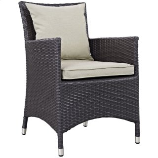 Convene Dining Outdoor Patio Armchair in Espresso Beige