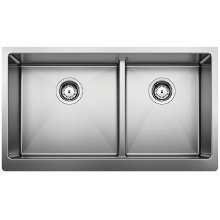 Blanco Quatrus R15 1-3/4 Apron With Low Divide - Stainless Steel