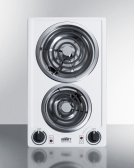 230v 2-burner Coil Cooktop In White Porcelain; Made In the USA Product Image