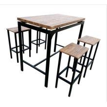 Contemporary Chestnut Five-piece Bar Set
