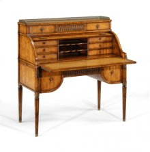 Satinwood Roll Top Desk