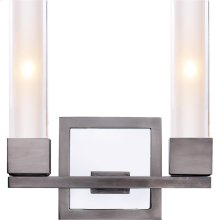 Visual Comfort S2155AN-CG Ian K. Fowler Kendal 2 Light 9 inch Antique Nickel Decorative Wall Light