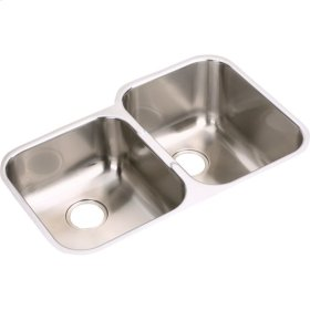 """Elkay Stainless Steel 31-1/4"""" x 20-1/2"""" x 10"""", Offset Double Bowl Undermount Sink"""