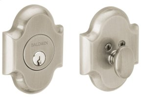Satin Nickel with Lifetime Finish Arched Deadbolt