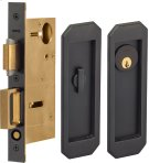 Pocket Door Lock with Traditional Trim featuring Turnpiece and Keyed Entry in (US10B Oil-Rubbed Bronze, Lacquered) Product Image