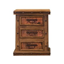 Nightstand with Copper Panels