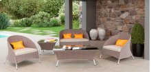 Renava Zamora Outdoor Brown Sofa Set