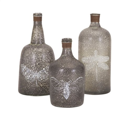 Folly Glass Bottles - Set of 3