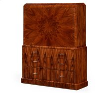 Art Deco Style Secretaire with Stainless Steel (Satin)