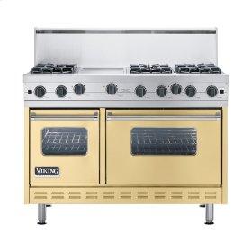 """Golden Mist 48"""" Open Burner Commercial Depth Range - VGRC (48"""" wide, six burners 12"""" wide griddle/simmer plate)"""