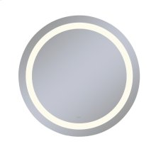 """Vitality 40"""" Diameter X 1-3/4"""" Depth Circle Lighted Mirror With Inset Light Pattern, 2700 Kelvin Temperature (warm Light), Dimmable and Defogger"""