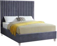 "Candace Velvet Bed - 81""L x 59""W x 65""H"