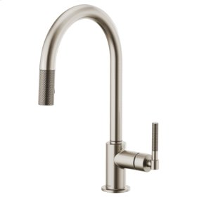 Pull-down Faucet With Arc Spout and Knurled Handle