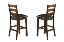 Emerald Home Castlegate Barstool Bonded Leather Seat Pine D942-30