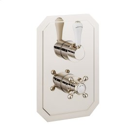 Belgravia 1500 Thermo Valve Trim (2 Outlets) - Polished Nickel