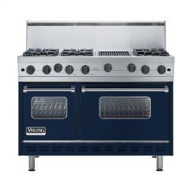 "Viking Blue 48"" Open Burner Range - VGIC (48"" wide, six burners 12"" wide char-grill)"