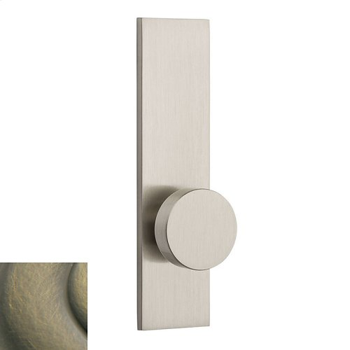 Satin Brass and Black Contemporary K010 Knob Screen Door