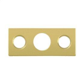 """Strike Plate For 7"""" Flush Bolt - Polished Brass"""