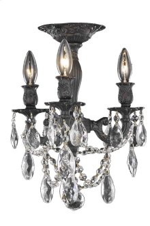 8203 Rosalia Collection Flush Mount Dark Bronze Finish
