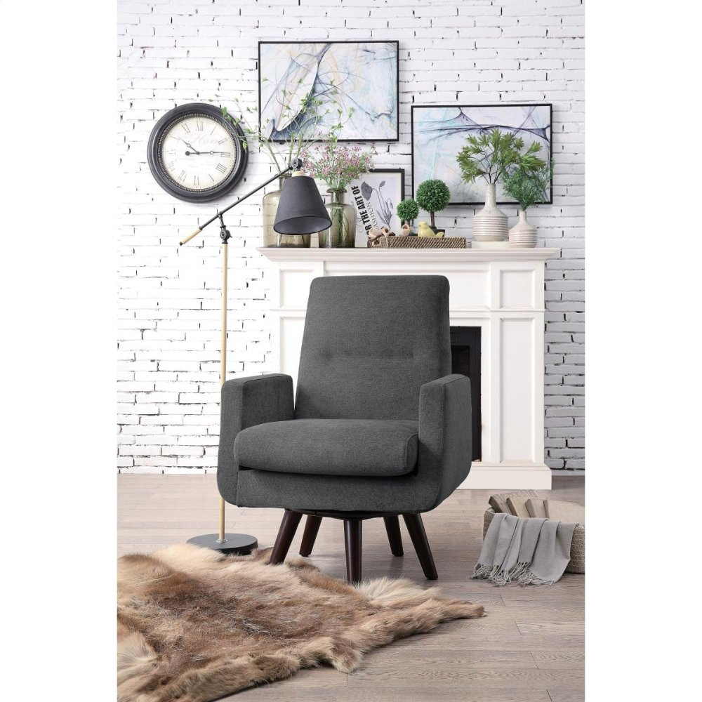 Homelegance Mentor Fabric Swivel Accent Chair Brown
