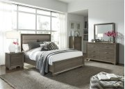 King Uph Bed, Dresser & Mirror, Chest, N/S Product Image