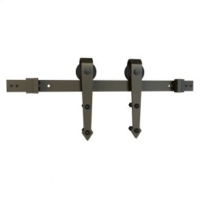 "Sliding Barn Door Hardware - 6'6"" Decorative Strap - Satin Nickel Product Image"