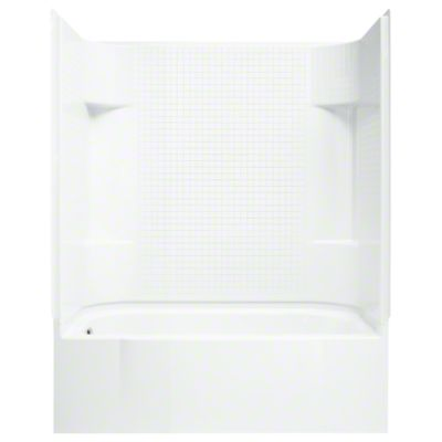 """Accord® Series 7114, 60"""" x 30"""" x 72"""" Bath/Shower with Age in Place Backers - Left-hand - White"""