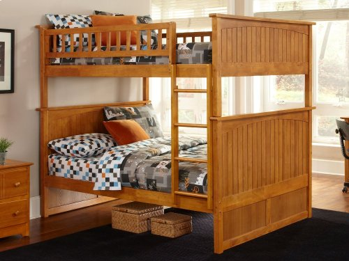 Nantucket Bunk Bed Full over Full in Caramel Latte