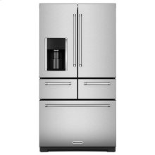 Stainless Steel KitchenAid® 25.8 Cu. Ft. 36-Inch Multi-Door Freestanding Refrigerator