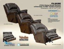 Chaise Rocker Recliner - Oversized X-tra Comfort Footrest - Steel