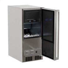 """15"""" Marvel Outdoor Clear Ice Machine - Solid Stainless Steel Door - Left Hinge"""