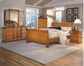 2 Drawer Night Stand with pullout tray