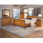 2 Drawer Night Stand with pullout tray Product Image
