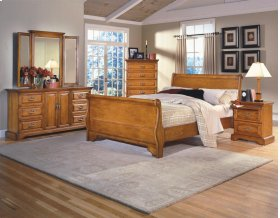 5 Piece Bedroom - 3 PC Bed, Dresser, Mirror