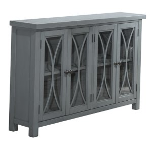 Hillsdale FurnitureBayside 4 Door Cabinet - Robin's Egg Blue