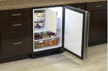 "24"" Refrigerator and Freezer with MaxStore Utility Bin (Marvel) - Solid Stainless Steel Door, Left Hinge"