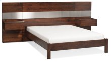 """Bennett Bed with 26"""" Attached Nightstands (Redesigned), Bennett Panel Bed with 26"""" Attached Nightstands, California King"""