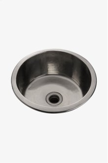 "Normandy 13 3/4"" x 13 3/4"" x 6 5/16"" Hammered Copper Round Bar Sink with Center Drain STYLE: NOSK18"