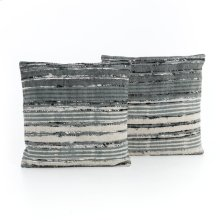 """20x20"""" Size Silk Ribbon Pillow, Set of 2"""