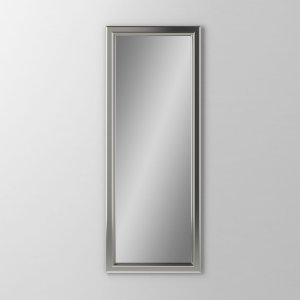 "Main Line 15-1/8"" X 39-7/8"" X 1-5/8"" Bryn Mawr Framed Mirror In Satin Nickel Product Image"