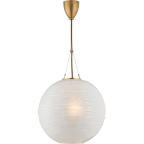 Visual Comfort AH5015NB-FG Alexa Hampton Hailey 1 Light 18 inch Natural Brass Pendant Ceiling Light