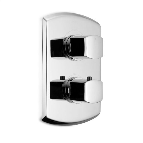 Soirée® Thermostatic Mixing Valve Trim with Dual Volume Control - Brushed Nickel
