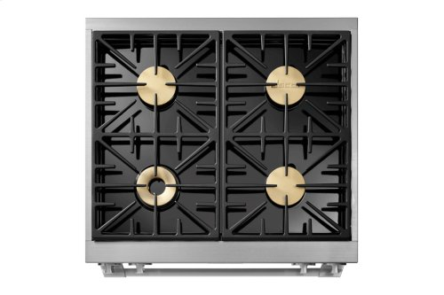"30"" Heritage Dual Fuel Pro Range, Stainless Steel, Natural Gas"