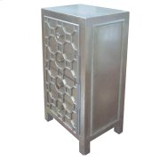Silvestro Distressed Small Cabinet 4 Drawers, Antique Champagne Product Image