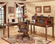 Hamlyn - Medium Brown 3 Piece Home Office Set