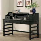 Perspectives - Leg Desk With Hutch - Ebonized Acacia Finish Product Image