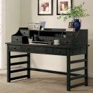 Perspectives - Leg Desk With Hutch - Ebonized Acacia Finish Product Image